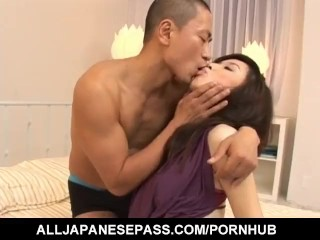 Maaya Kurihara Hot Asian MILF Sucks Flannel Increased By Gets Soft Pussy Pounded